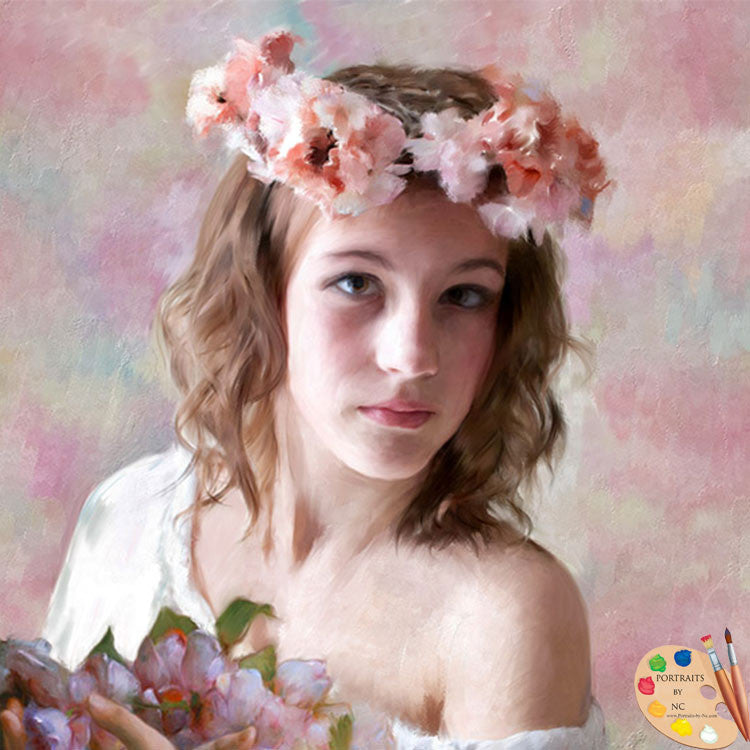 Flower Girl Portrait 221