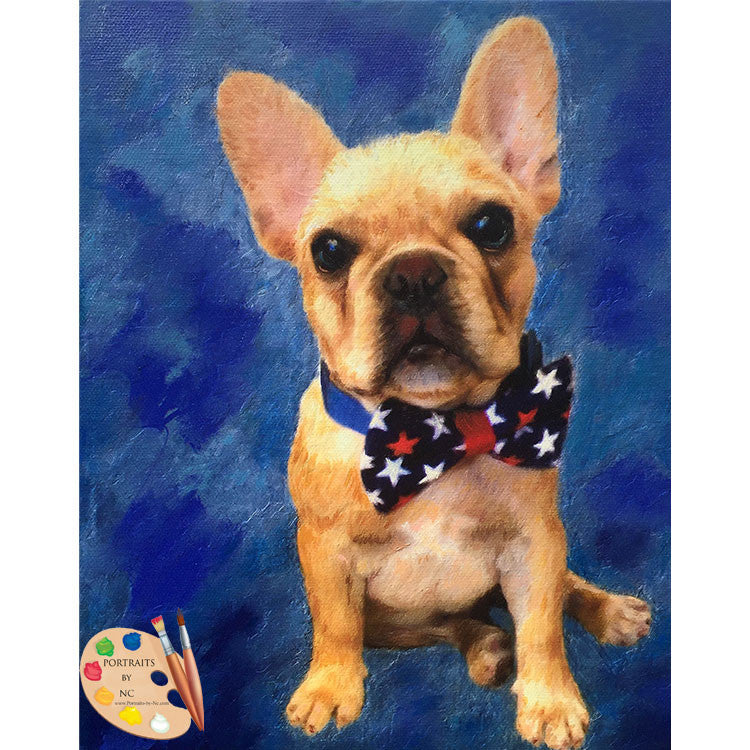 French Bulldog Puppy Painting 374