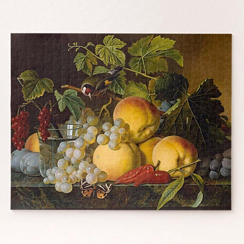 Fruit still life art puzzle for adults