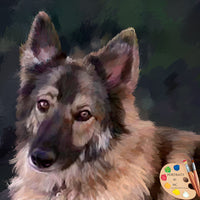 German Shepherd Face 609
