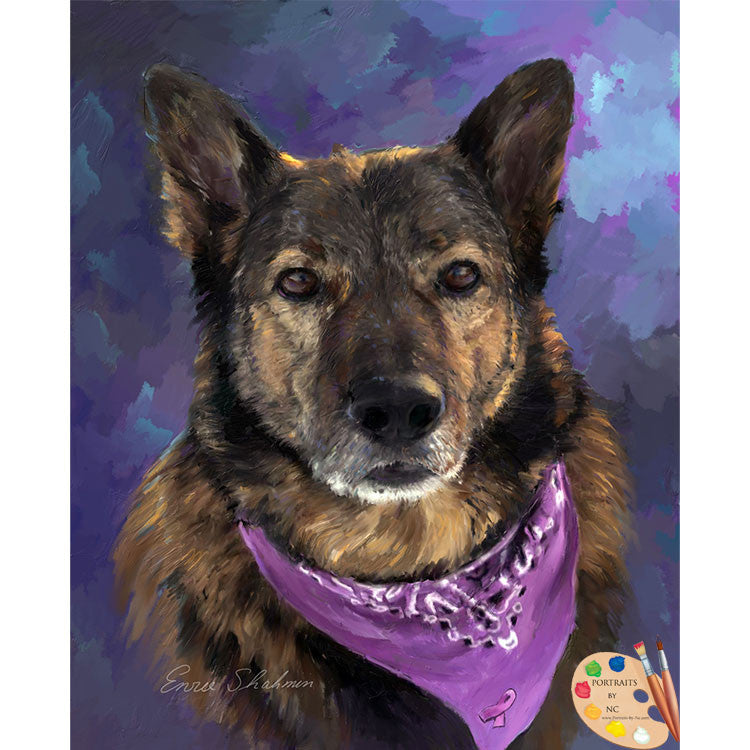 German Shepherd Painting 259 - Portraits by NC