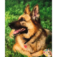 German Shepherd Pet Painting 515