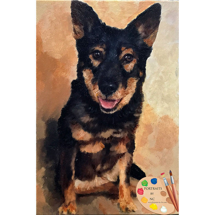 German Shepherd Dog Painting 513