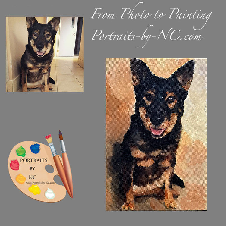 German Shepherd Dog Portrait from Photo 513