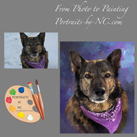 German Shepherd Painting from Photo 259