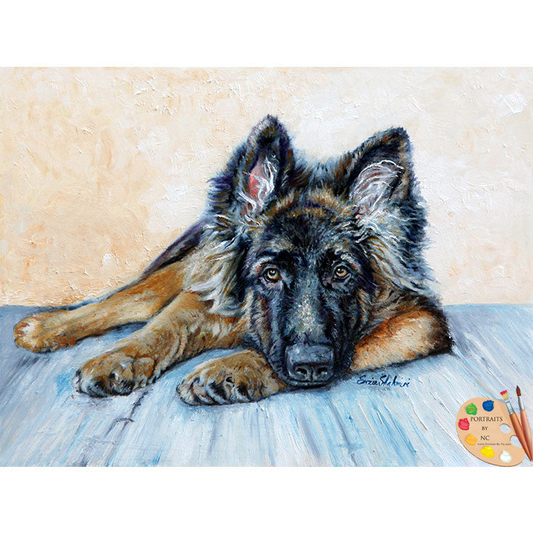 German Shepherd Painting 175