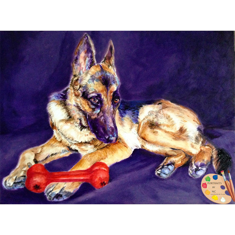 Painting of German Shepherd 189
