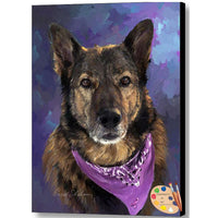 German Shepherd Print 259