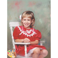 Child Portrait Girl on Rocking Chair 342 - Portraits by NC