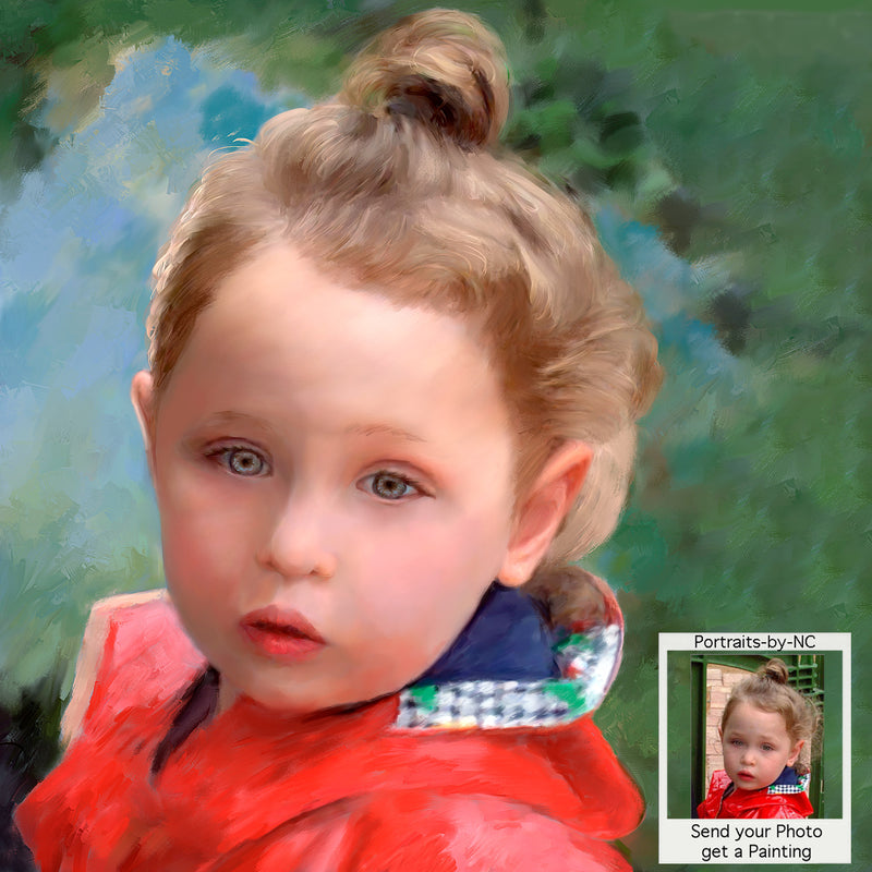 Child Portrait - Custom Painted Portraits of Girls