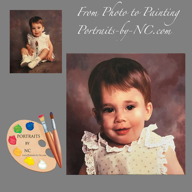 Child Oil Portraits Toddler Girl 579 - Portraits by NC
