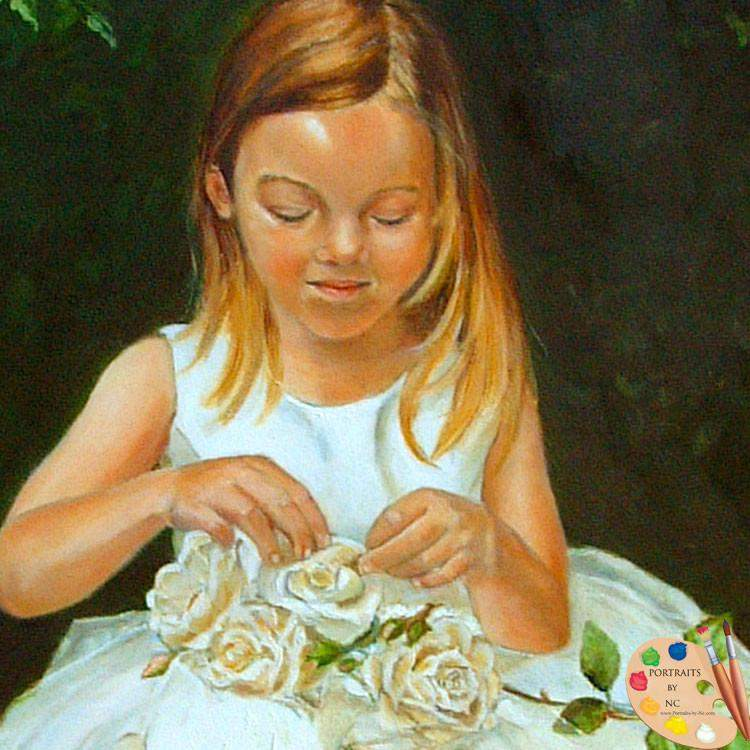 Girl in Rose Garden Portrait 56