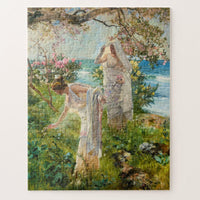 Greek Girls on the Shore Joaquín Sorolla Art Jigsaw Puzzle