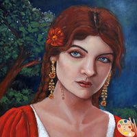 Gypsy Woman Painting 179