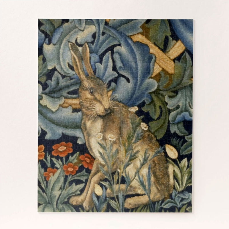 William Morris Hare In A Forest Floral Art Nouveau Jigsaw Puzzle