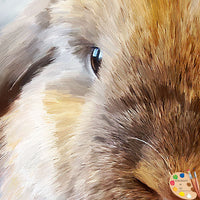 Holland Lop Painting 601