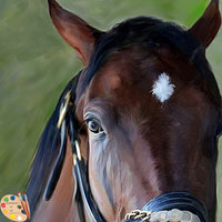 Horse Portrait Wicked Strong Detail 305