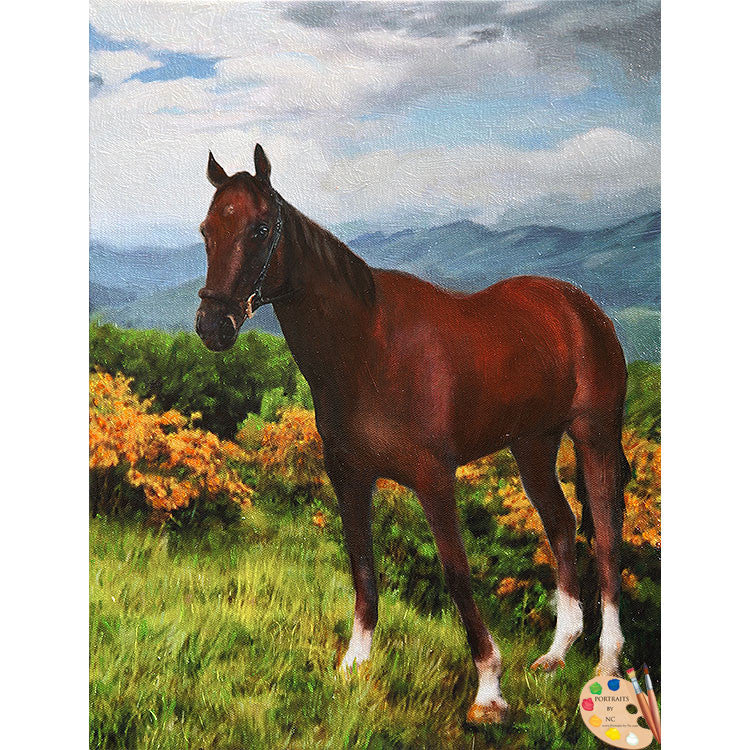 Horse Painting Horse in Landscape 357