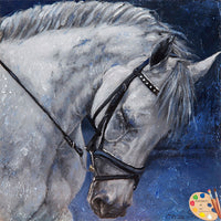 Horse Painting Humble Beauty 173