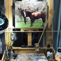 Horse Portrait on Easel 361