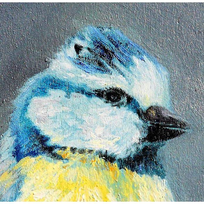 Chickadee Bird Painting