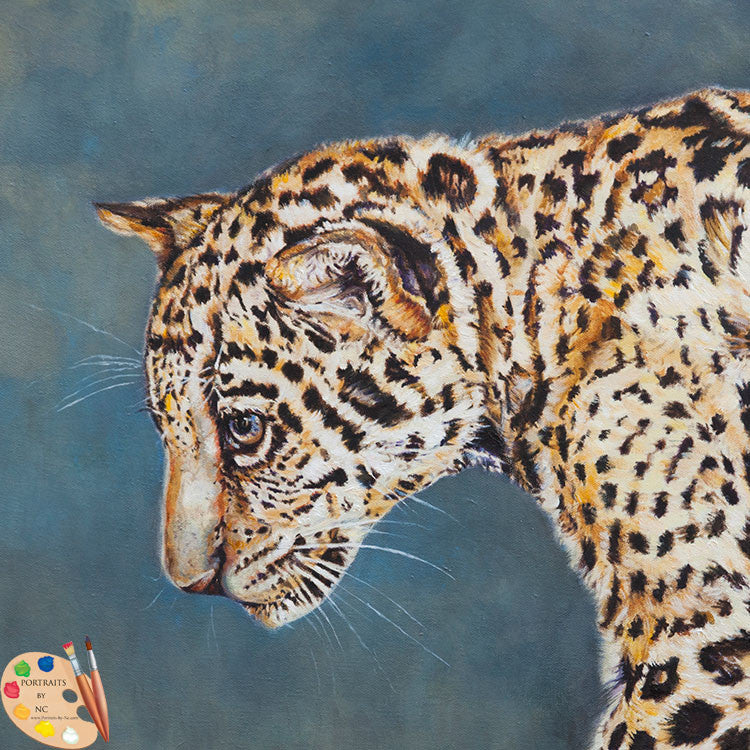 Wildlife Painting Jaguar Cub 181