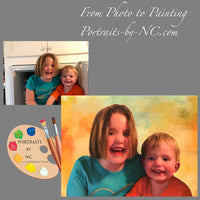 Painting of Siblings in Oil