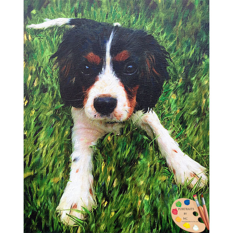 King Charles Spaniel Puppy Painting 381