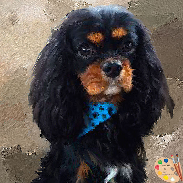 King Charles Spaniel Dog Portrait 443