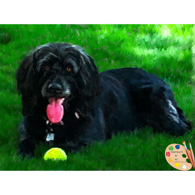 Labradoodle Dog Painting 476
