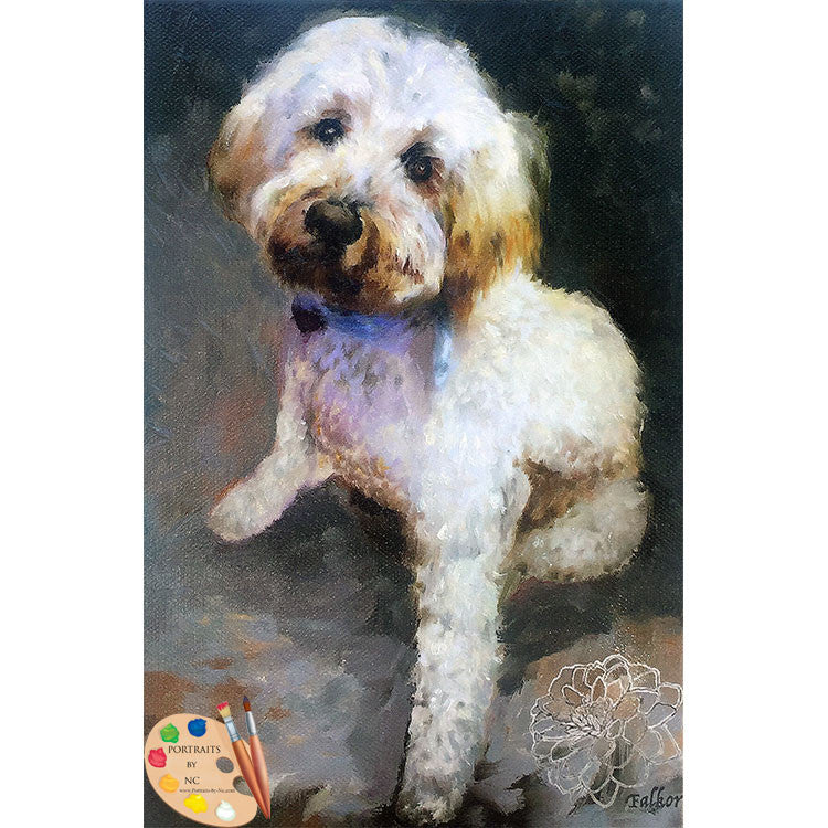 Labradoodle Dog Painting 487