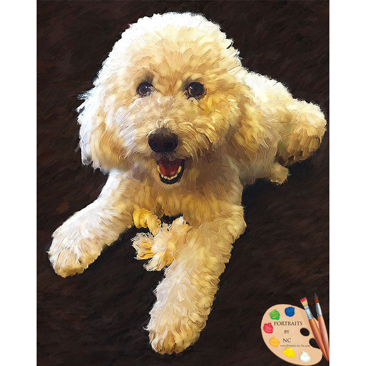 Labradoodle Dog Painting 530
