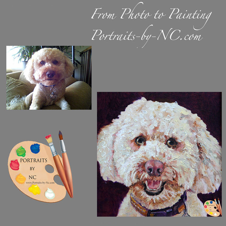 Labradoodle Painting from Photo 162