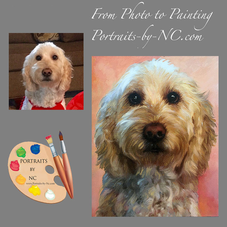 Labradoodle Portrait from Photo 473