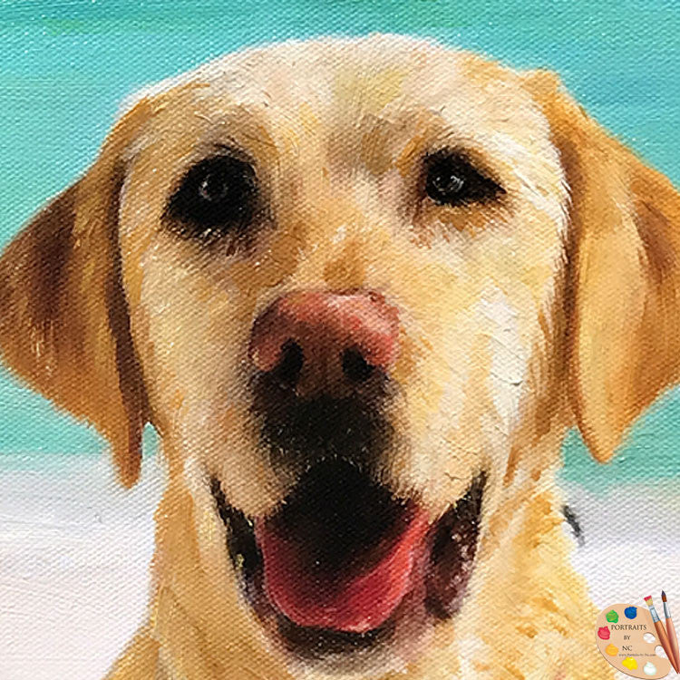 Labrador Face Portrait