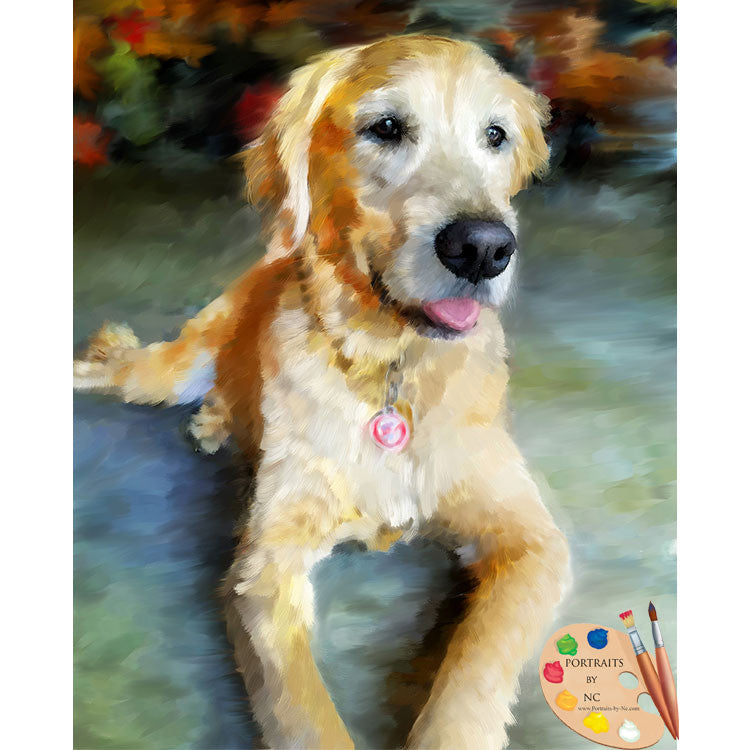 Labrador Oil Portrait