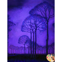 Painting of Trees Twilight 270 - Portraits by NC