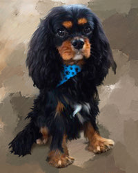 Cavalier King Charles Custom painted Dog portrait