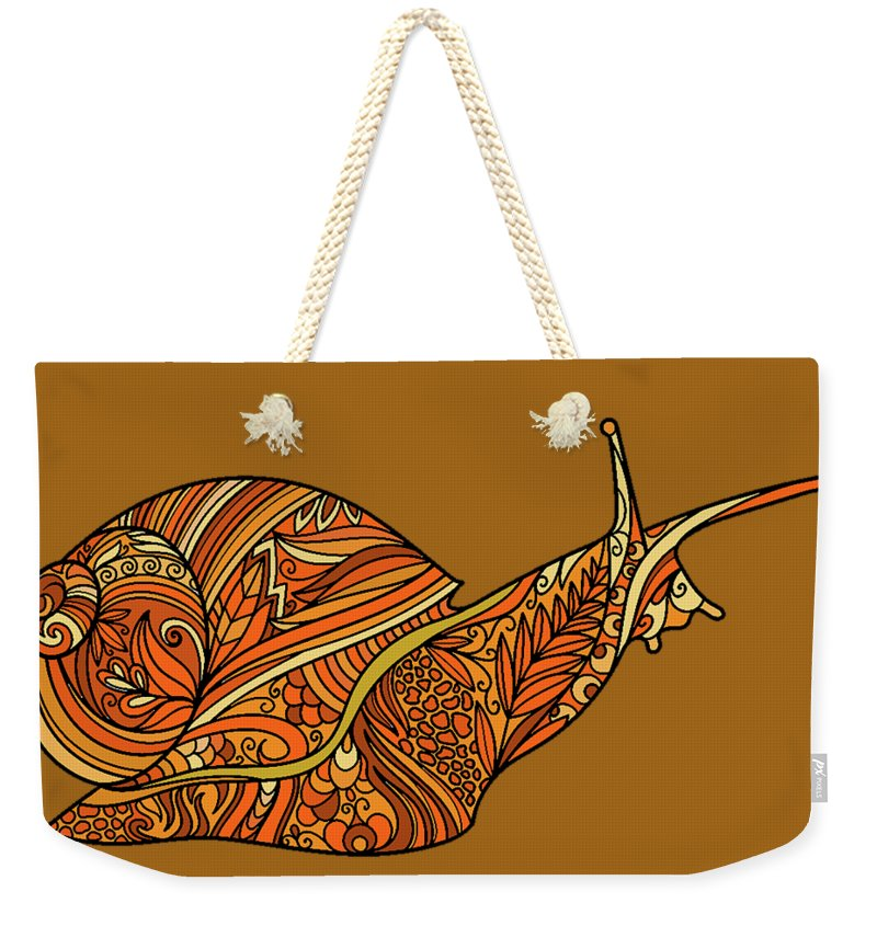 Orange Snail - Weekender Tote Bag Neutral