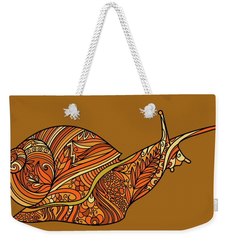 Orange Snail - Weekender Tote Bag