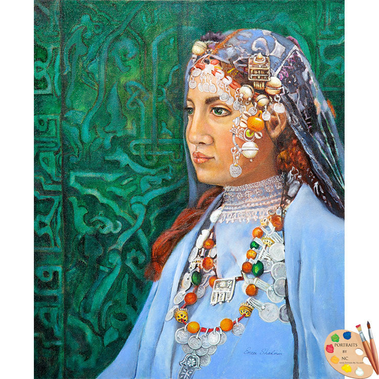Painting of Berber Woman 191 - Portraits by NC