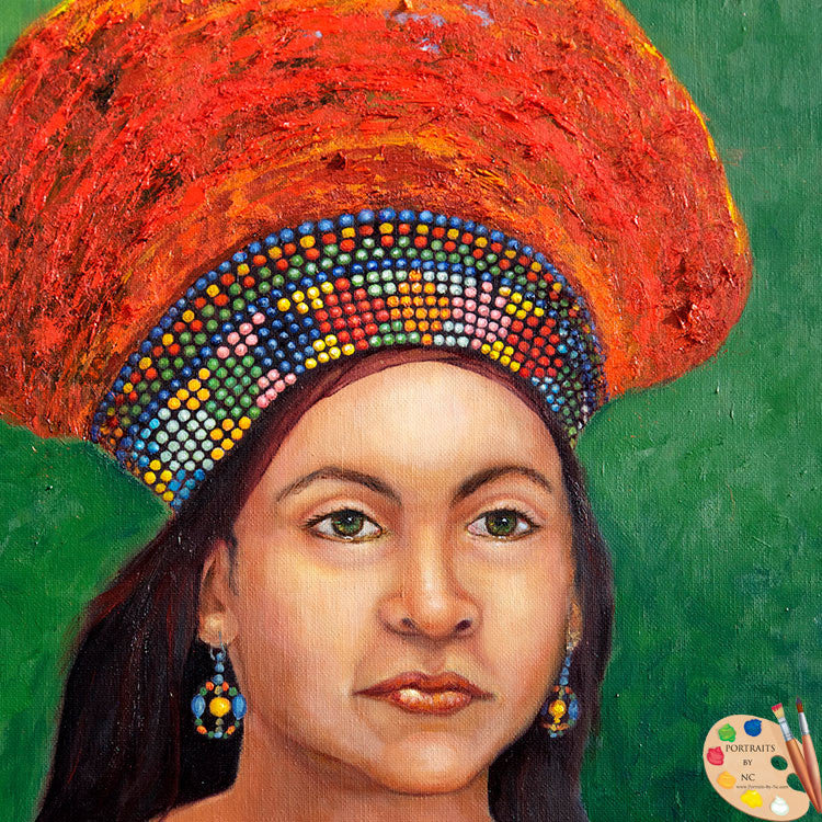 Painting of Zulu Bride 174