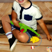 Toddler Portrait Boy with Fishing Pole Detail 359
