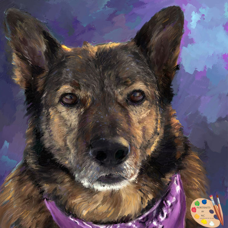 German Shepherd Painting 259