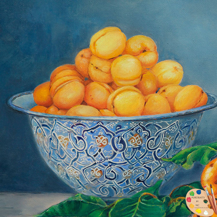 Still Life Painting Apricots and Peaches 176