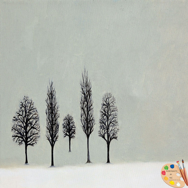 Winter Trees Painting