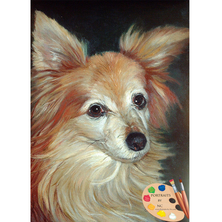 Papillion Dog Painting 86