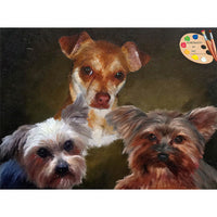Group Dog Painting 571