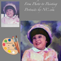 Child Portrait from Old Photo 592 - Portraits by NC