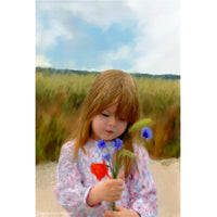 Child Portrait - Picking Cornflowers
